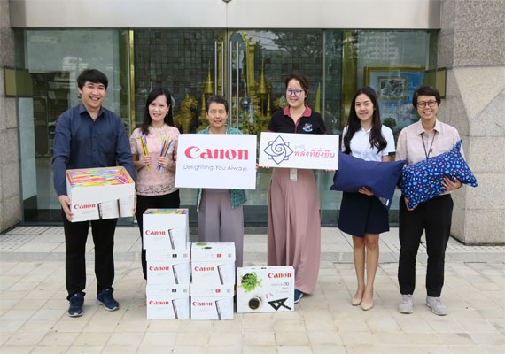 Canon Contributes to Sustainable Environment by Donating Plastic Straws to Power of Sustainable Future Foundation