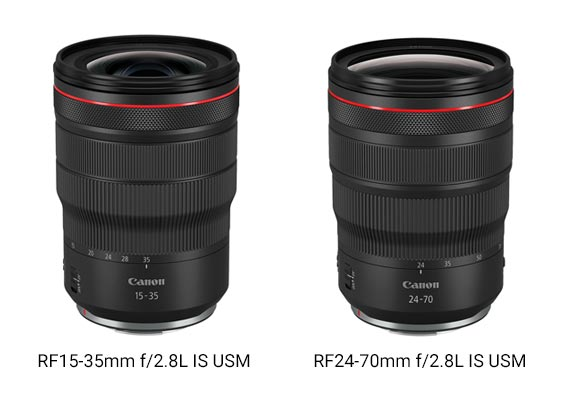 Canon Unveils Two of the Zoom Trinity Lenses: RF24-70mm f/2.8L IS USM and RF15-35mm f/2.8L IS USM
