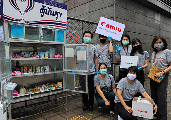 "Canon share supplies to ""Pantry of Sharing"" to help Thai in needs during Covid-19"