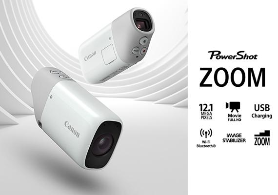 """แคนนอน โชว์แก็ตเจ็ตแนวคิดใหม่สุดคูล PowerShot ZOOM """"กล้องดิจิทัลส่องทางไกล"""" เริ่มจำหน่ายต้นเดือน เม.ย. นี้"""