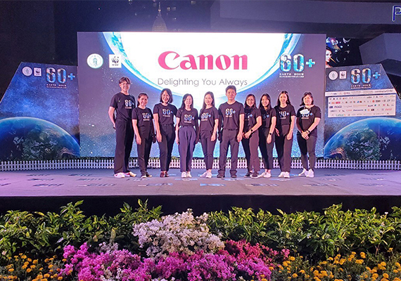 Canon Group Thailand Companies support the Earth Hour Light Off Campaign