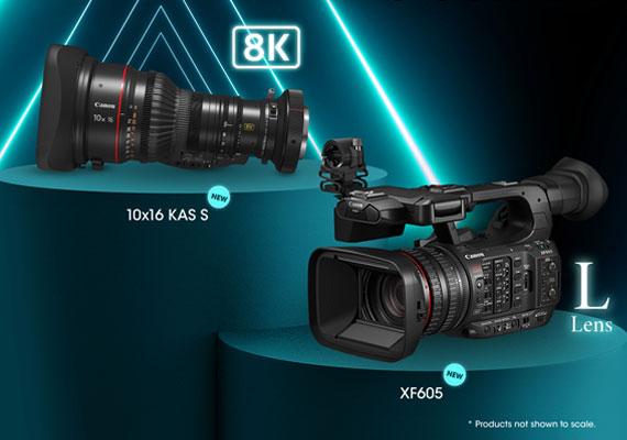 """แคนนอน เผยโฉม """"Canon XF605"""" กล้องถ่ายวิดีโอระดับมืออาชีพ 4K   มาพร้อมเลนส์ Canon 10x16 KAS S เลนส์ซูมขนาดเล็กเพื่อการบรอดแคสต์ขั้นสูงระดับ 8K"""